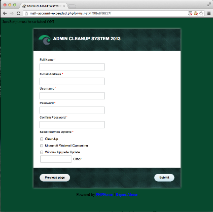 Phishing Form